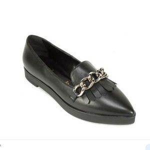 Summit Elena' Fringed Platform Leather Loafer
